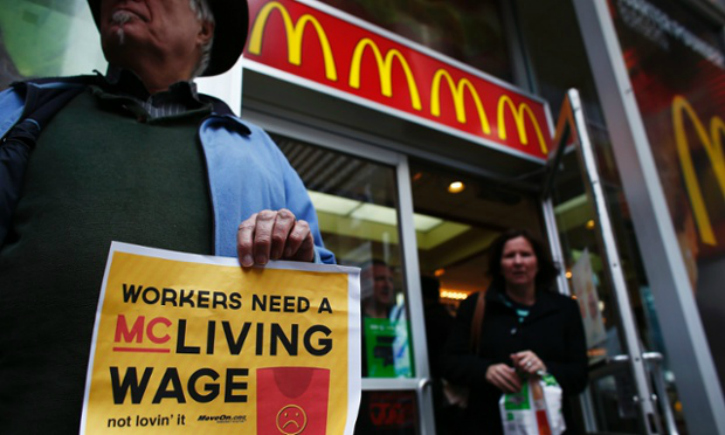 Better wages strike by McDonald's employees