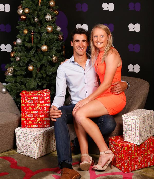Mitchell Starc with girlfriend Alyssa Healy