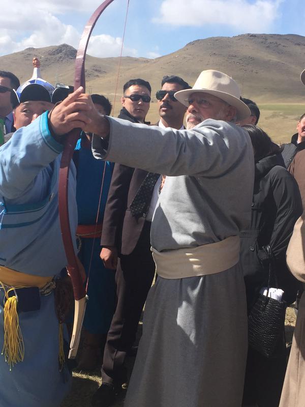 Modi in Mongolia