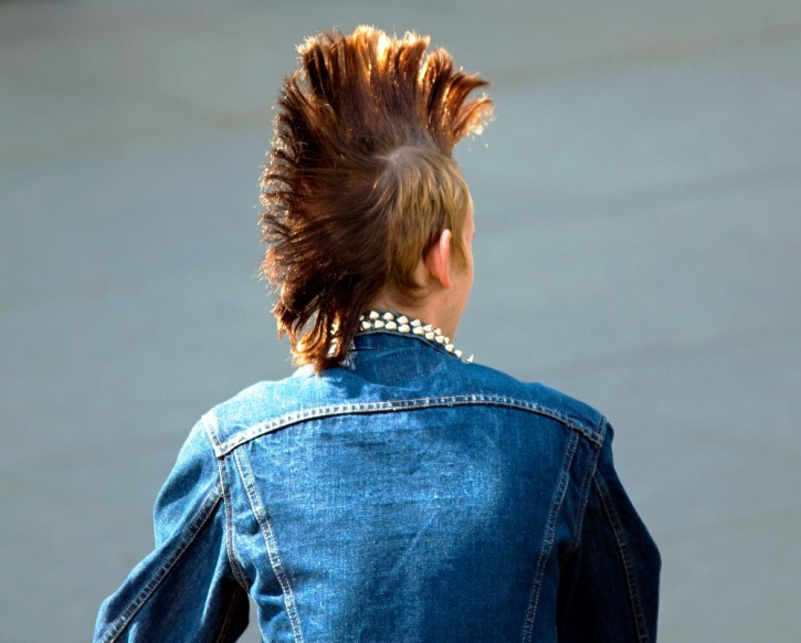 spiked hair