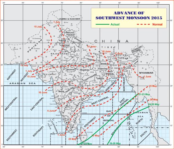Monsoon Map