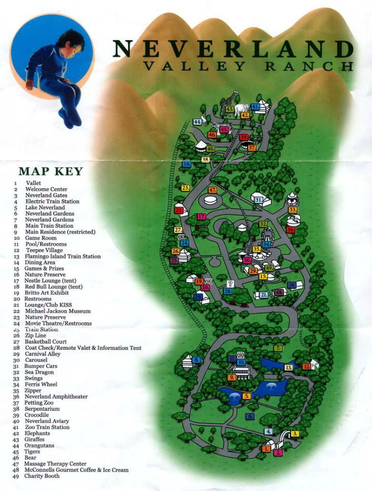 neverland ranch map