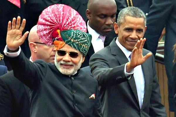 Obama in Delhi with Modi