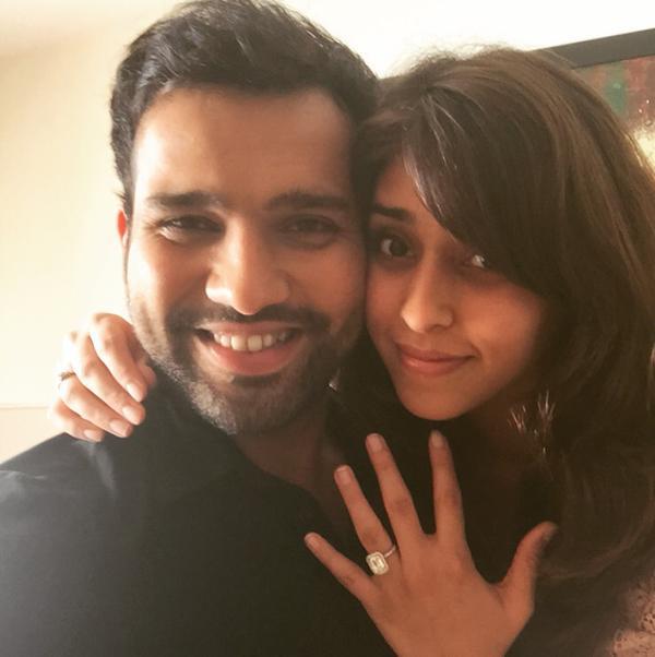 Rohit Sharma with fiancee Ritika