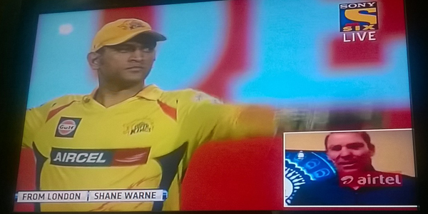 Shane Warne via skype