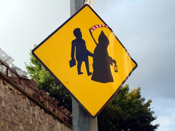 unusual road sign