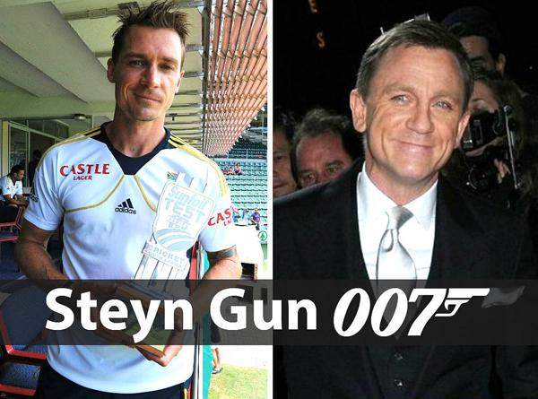 Dale Steyn and Daniel Craig