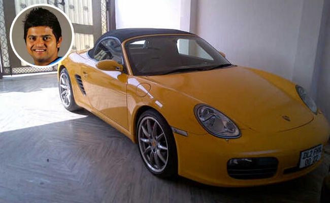 Porsche Boxter Limited Edition parked at Suresh Raina's residence