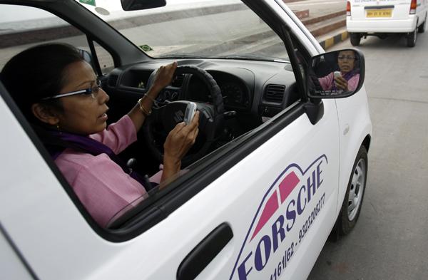 Revathi Roy, a cab entrepreneur