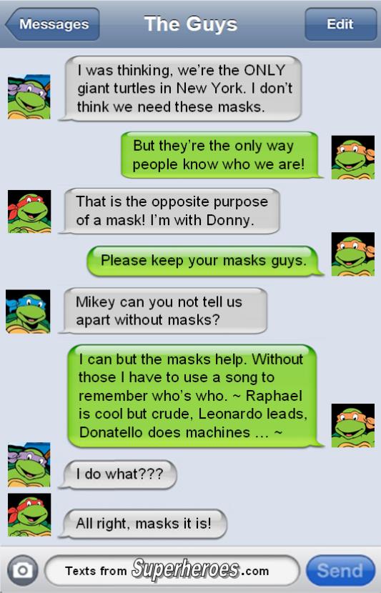 superhero texts