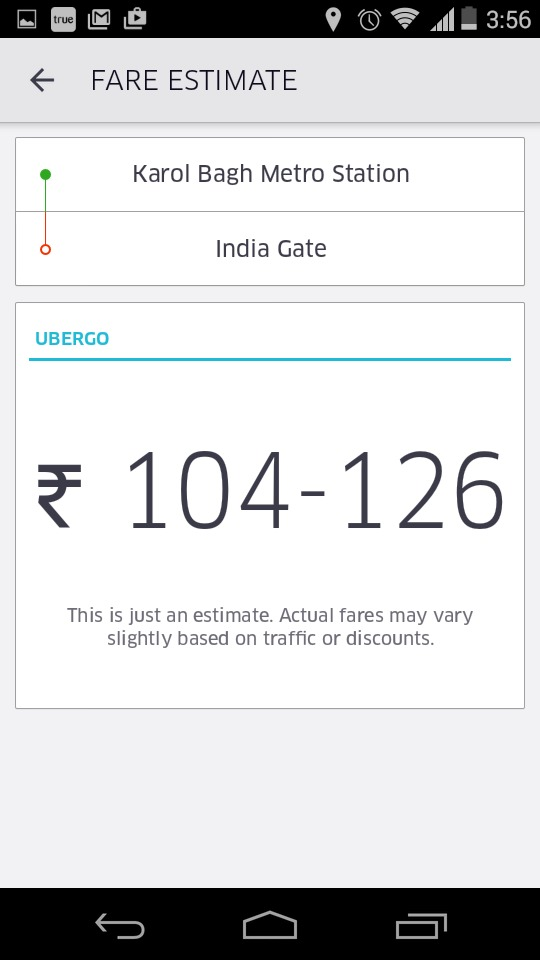 uber app delhi