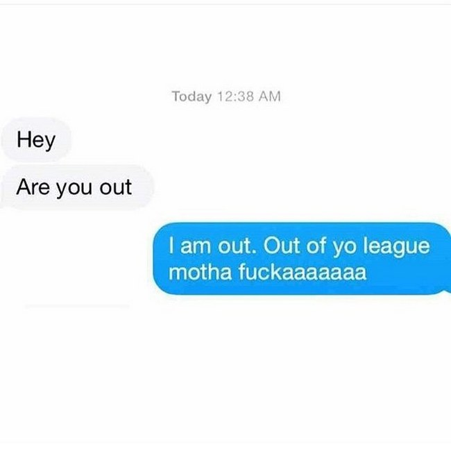 you out