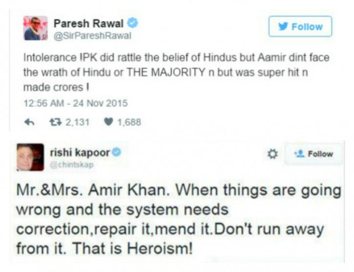 Aamir intolerance issue