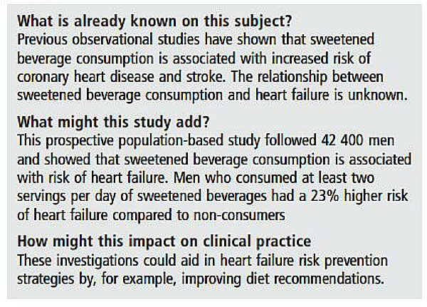 study on sodas and mens health
