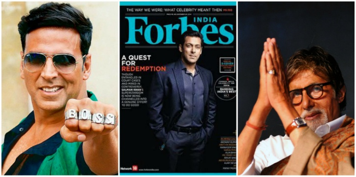 forbes list of top indian actors