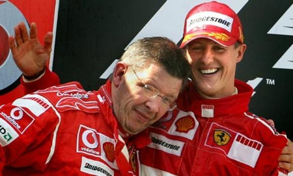 Michael Schumacher and Ross Brawn