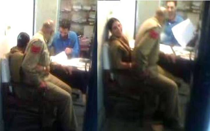 This J&K Cop Was Suspended Because A Picture Of Him Sitting In His Female Collegue