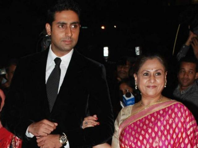 Abhishek Bachchan and jaya bachchan