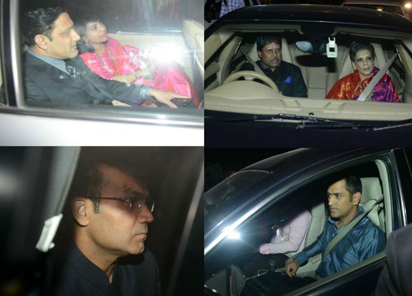 Kumble, Sehwag, Dhoni and Kapil attend Harbhajan