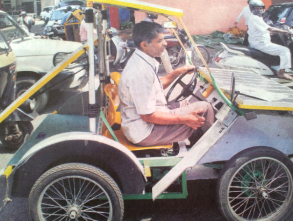 This 63-Year-Old Is Travelling From Bengaluru To Delhi In His Self-Made Solar Powered Car To Spread Kalam
