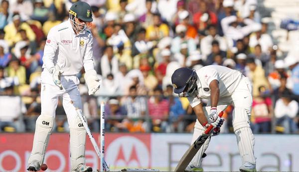 Mishra bowled by Imran Tahir