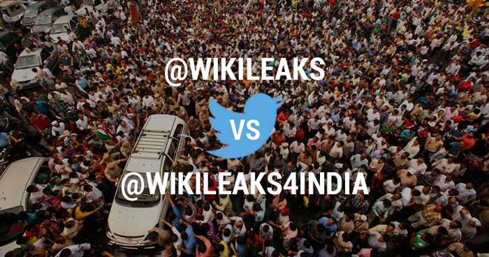 Wikileaks Officially Proclaims @Wikileaks4India As Fake, Says It