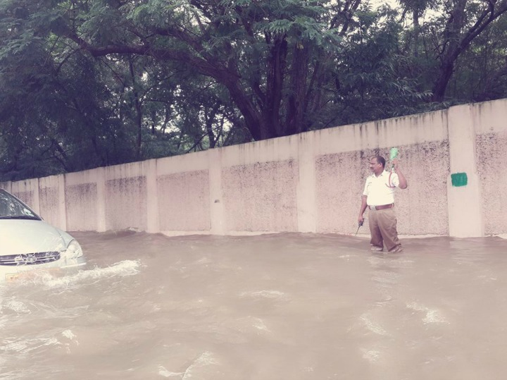 Traffic cop in Chennai