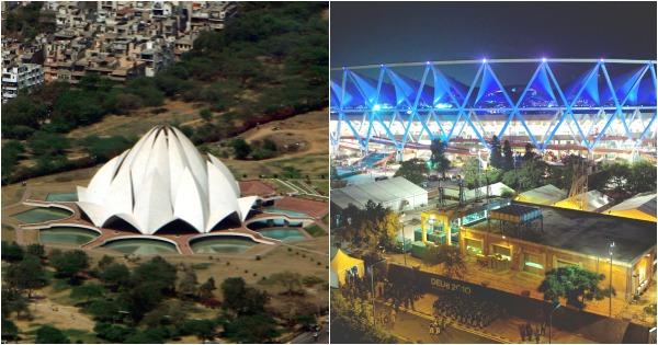 Lotus Temple and Nehru Stadium