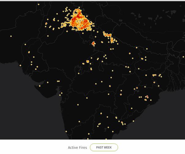 punjab fire 2015 map