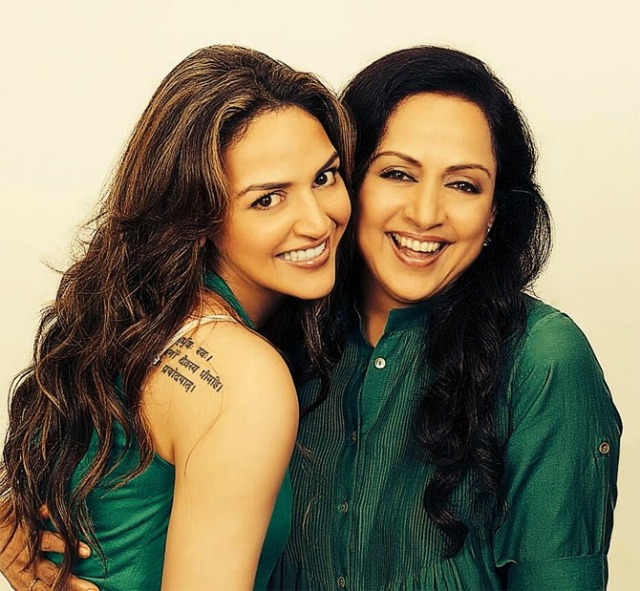 Hema Malini and Esha Deol