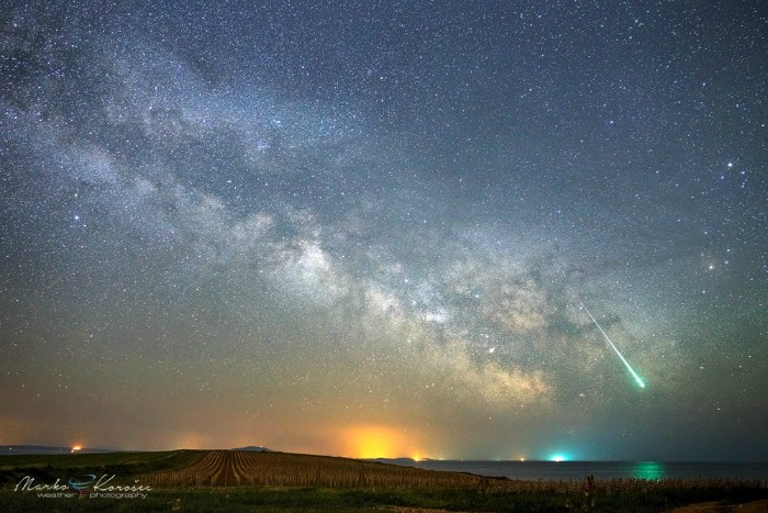 Meteors in the Milky Way