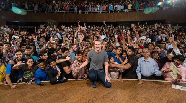 Mark Zuckerberg at IIT-D