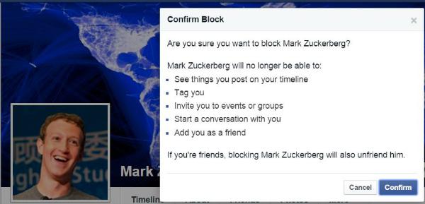 mark facebook block