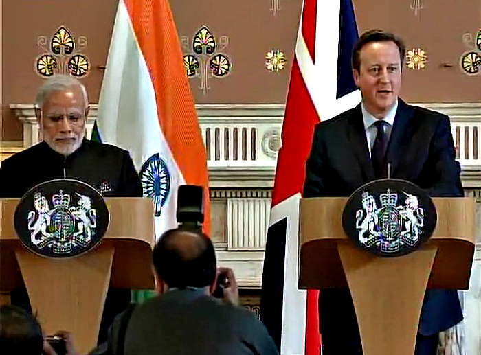 Modi Scores Brit Support For India