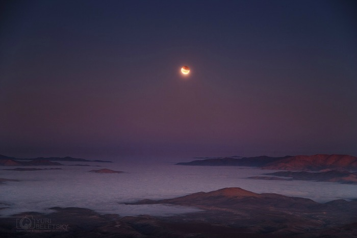 Eclipse at moonset