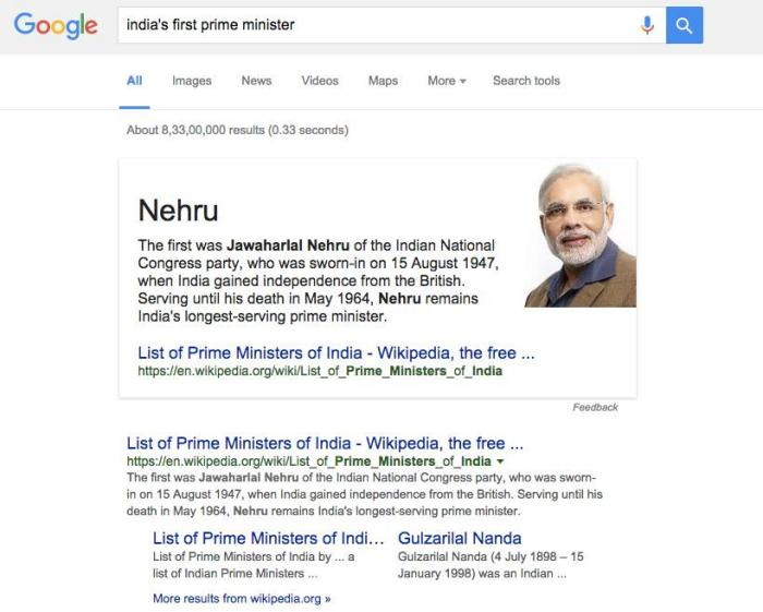 Narendra Modi Is The First Prime Minister Of India