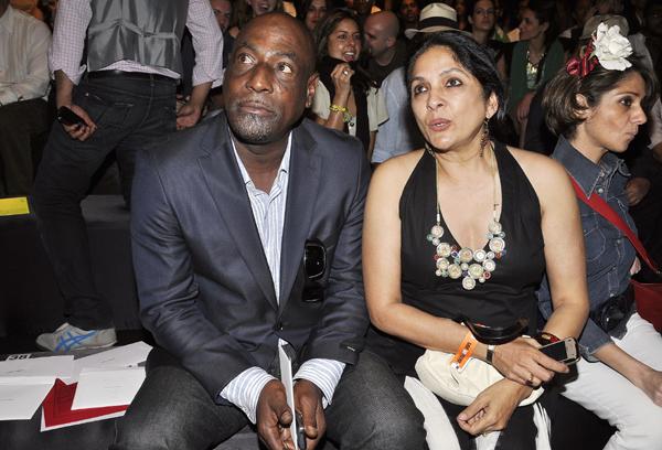 Vivian Richards with Neena Gupta