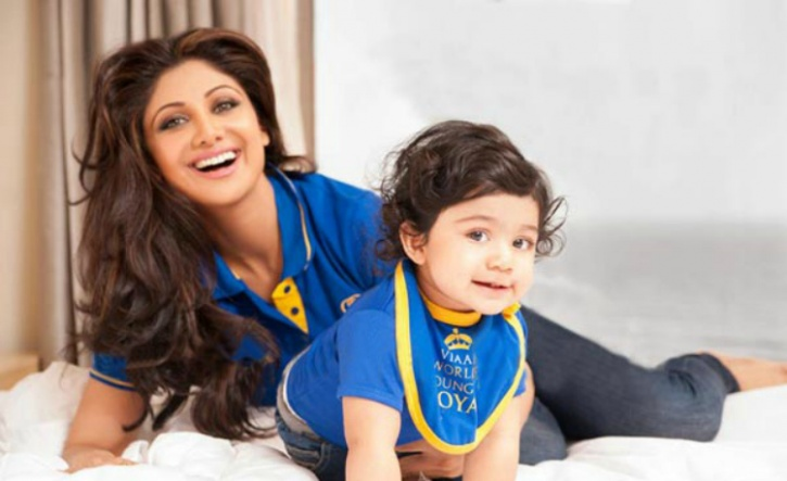 Shilpa Shetty  and Viaan