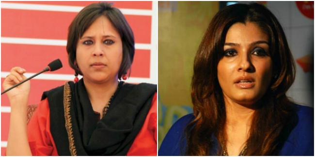 Raveena Tandon and Barkha Dutt