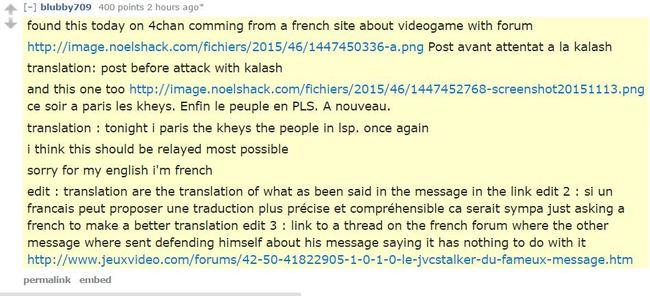 Prediction france paris attack 3