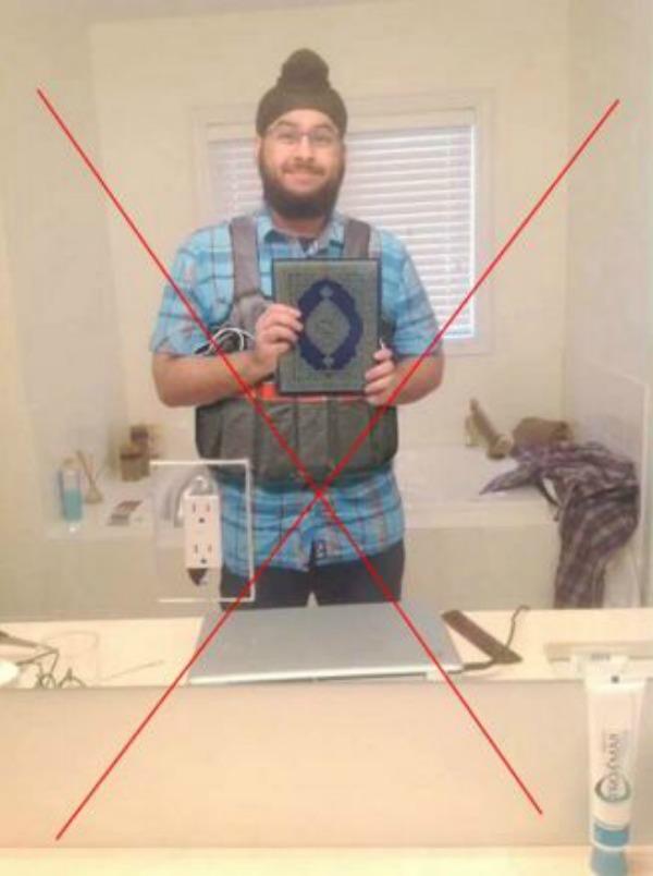 Sikh man was photoshopped as a Paris terrorist