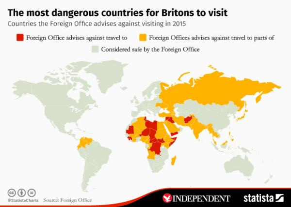most dangerous places to visit