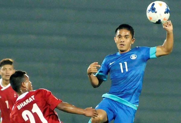 Sunil Chhetri in action