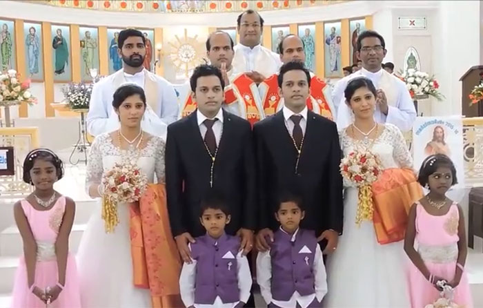 These Twin Brothers Just Married Twin Sisters In A Ceremony Presided Over