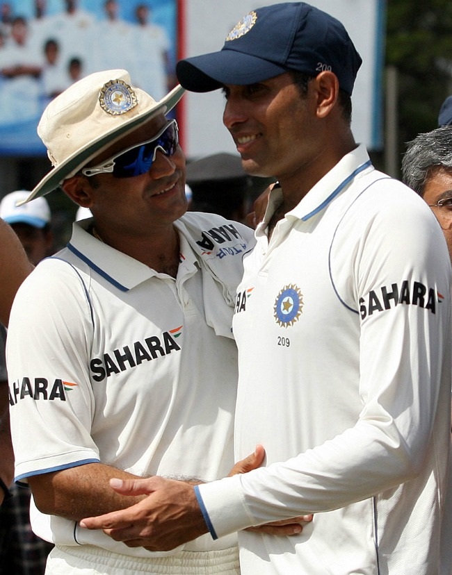 Virender Sehwag and VVS Laxman