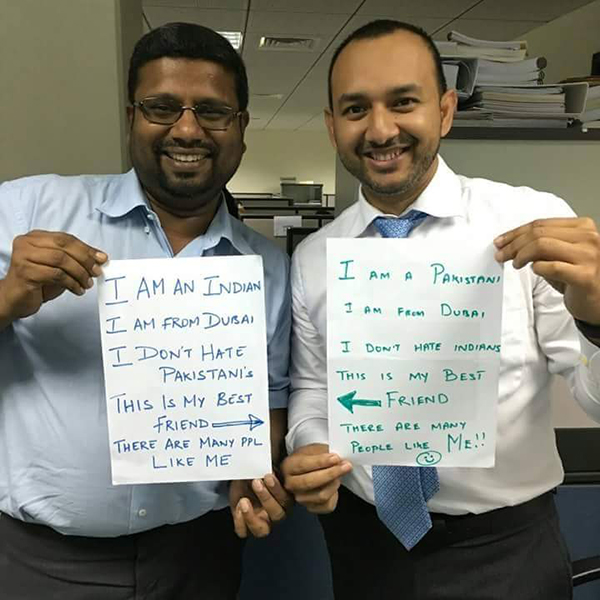 The #ProfileForPeace Movement Gains Much Love From Across The Border