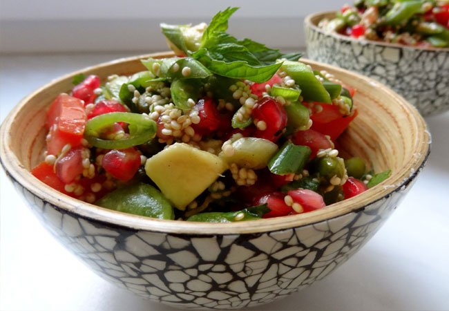 Bean Sprouts and Capsicum Salads