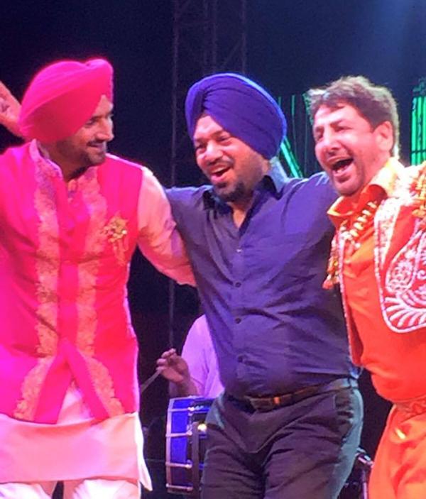 Bhajji with Gurpreet Ghuggi (centre) and Gurdas Man