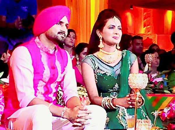 Harbhajan with Geeta