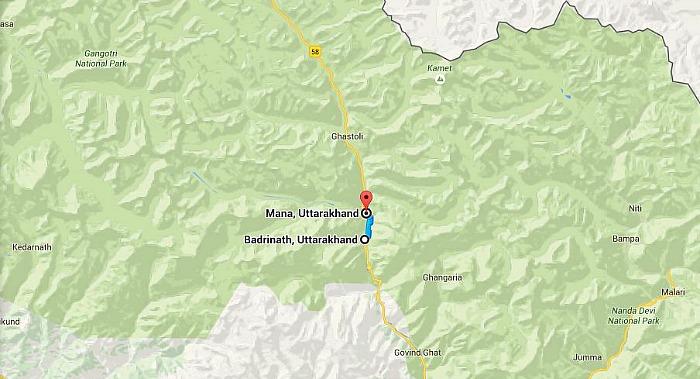 Badrinath to Mana village